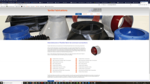 Textile Fabrication website screenshot